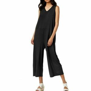 Eileen Fisher Sleeveless Wide Leg Jumpsuit Black